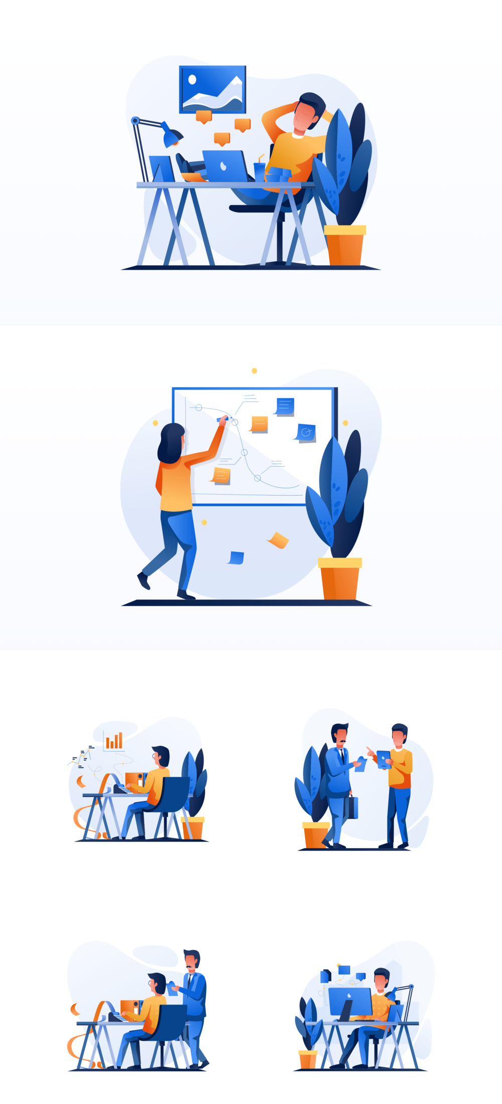 移动版网页版工作和办公室插图包 UI界面-第8张
