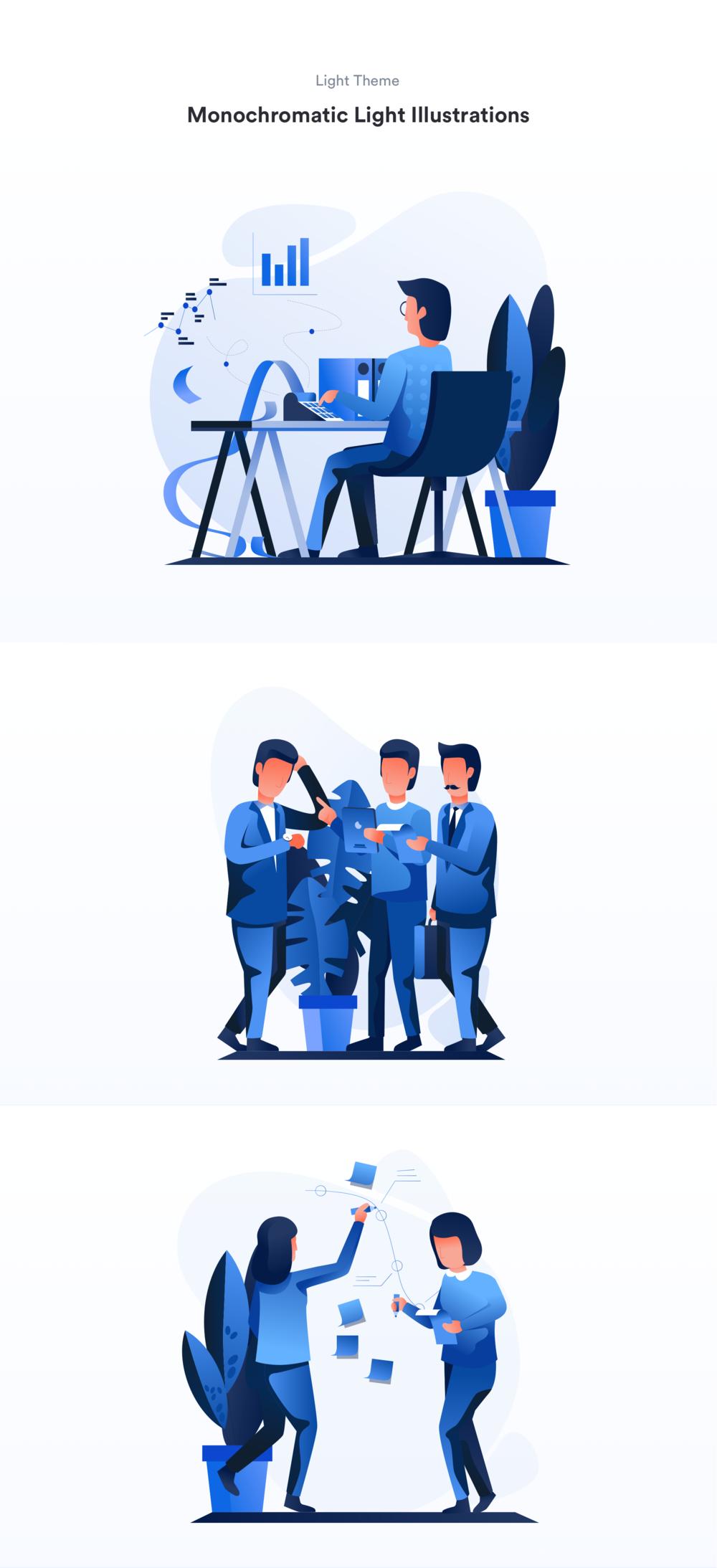 移动版网页版工作和办公室插图包 UI界面-第9张