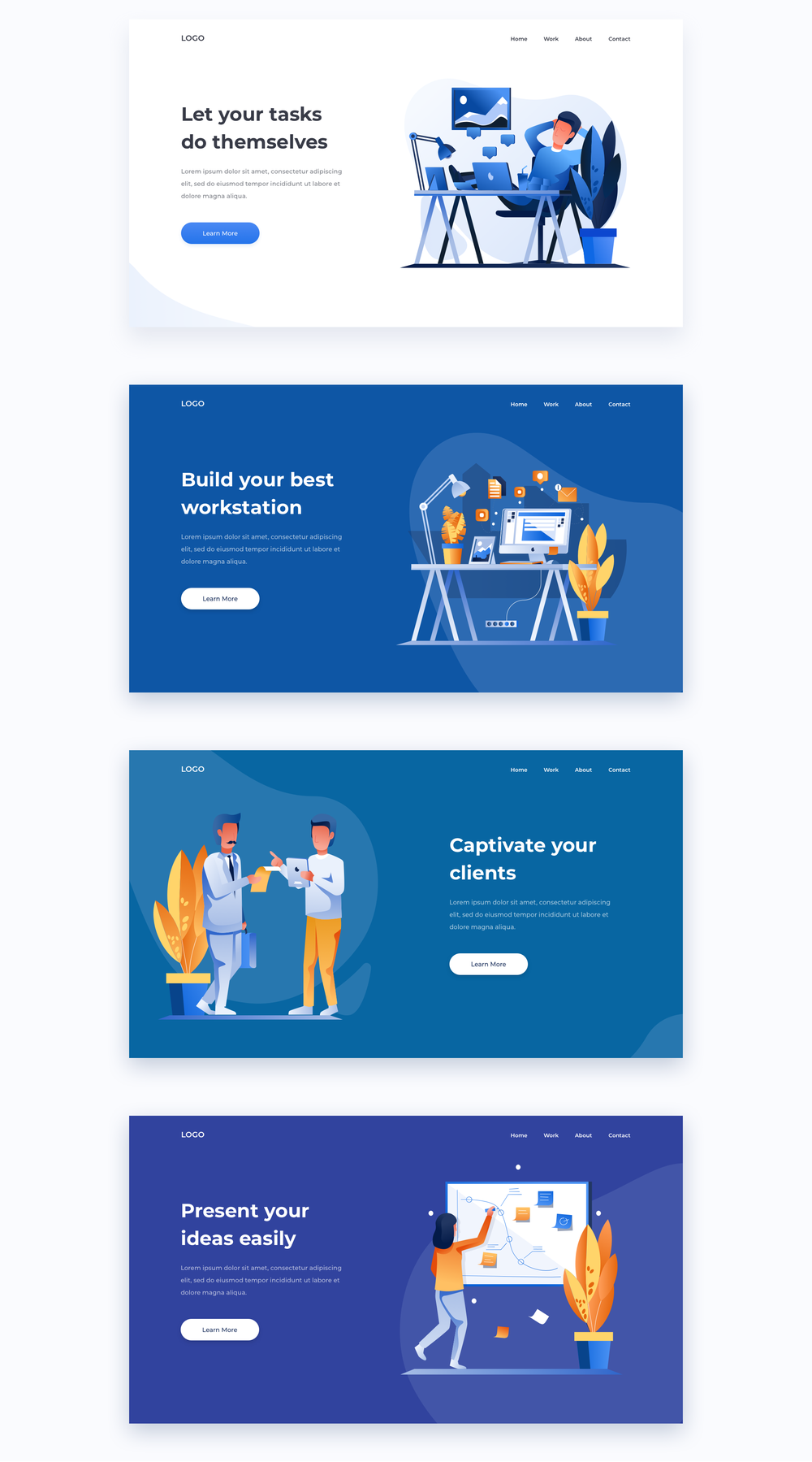 移动版网页版工作和办公室插图包 UI界面-第18张