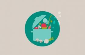 用Ai画插画型烹饪卡