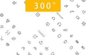 300+线型金融社交电商图标素材
