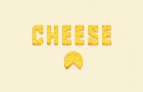Ai创建奶酪文字效果