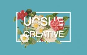 6款时尚花卉文字穿插海报模板PSD素材