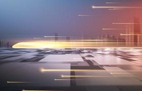 未来城市发展高铁大气背景模板PSD素材