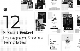 健身锻炼类微信微博海报PSD模板