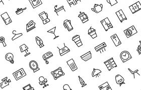 110个常用家居线型icon