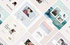 简洁的社交软件图片分享模板