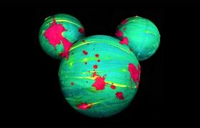 迪士尼黑皮月饼包装设计