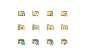 文档类彩色图标集下载