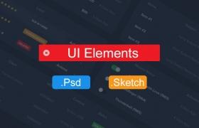 Psd和Sketch的仪表盘UI素材包