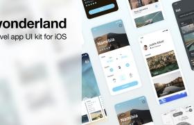 适用于iOS和Sketch的旅行UI工具包
