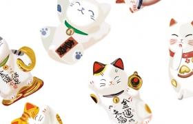 7款日式和风招财猫AI矢量素材