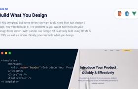 Landie – 登陆页面构建器UI工具包