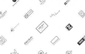 50组极简艺术创意英文字母logo素材