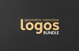 线性简约时尚图形LOGO矢量素材