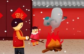 春节农历正月节日ai海报素材