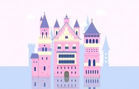 梦幻童话!绘制细节丰富的水上城堡群像